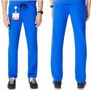 Figs Cairo Cargo Scrub Pants in Royal Blue | EUC